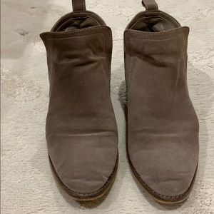 dolce vita suede brown/gray booties